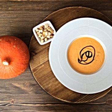 Крем суп из тыквы с семечками и крутонами