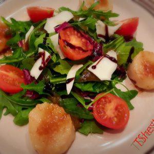 Морские гребешки салат рецепт приготовления
